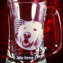 犬 猫 ペット 写真 ジョッキ グラス オリジナル オーダーメイド ギフト 世界でひとつ 格安 製作 東京 ノベルティ オーダー 名前