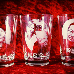写真入り オリジナル グラス 世界で1つ ジョッキ ロゴ入り イラスト入り グラス 製作 名入れ オーダーメイド 東京 格安 記念品