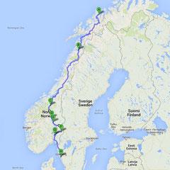 Südwärts - mit Rondanevegen und Rv 2