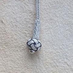 Drahtperle aus verwobenen Silberdrahtfäden, Feinsilber/999er Silber. i-must-have.it