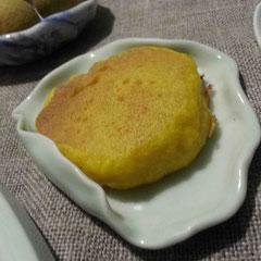 カボチャのパンケーキのようなもの。ふわふわ。