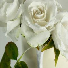 Weiße Rose aus Zucker 2014 von Floralilie