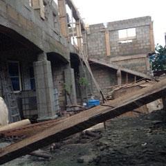 mei 2016: Er wordt gewerkt aan de tweede bouwlaag.