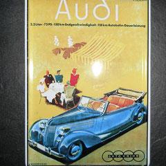 Audi Typ 920 Bj. 1938-40, Blechschild ca. 15 x 10cm