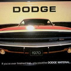 Dodge Charger 500 1970. Blechschild gewölbt. ca. 31 x 21cm