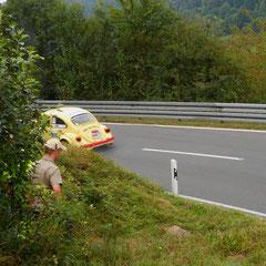 Auch schnelle Käfer gab es in Eichenbühl auf der Bergstrecke zu sehen.