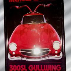 Mercedes-Benz 300 Gullwing Blechschild, gewölbt ca. 20 x 30cm