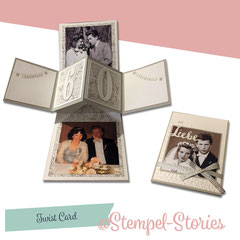 Drehkarte - mit Fotos personalisiert inkl. Folienumschlag: 12,00 €