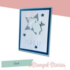 """Zur Geburt: """"A Star is born"""" inkl. Umschlag (Folie oder Papier) / Innen ist die Karte noch mit einem Spruch versehen: 4,50 €"""