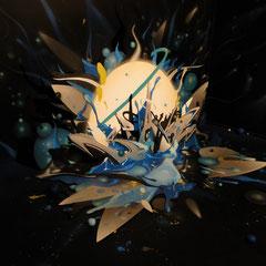 Installation Exposition Nebulae, Musée Borda, Dax.