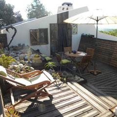 terrasse méditerranéenne gite Pays Cathare Gites de France dans l'Aude à Fenouillet du Razes