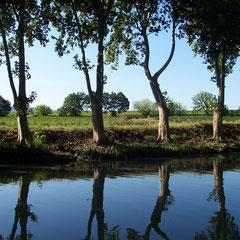 canal du midi dans l'Aude