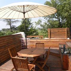 salon de jardin gite Pays Cathare Gites de France dans l'Aude à Fenouillet du Razes