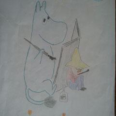 """Ілюстація до повісті-казки Т. Янсон """"Капелюх Чарівника""""  учениці 5 класу Горбаль Марії"""
