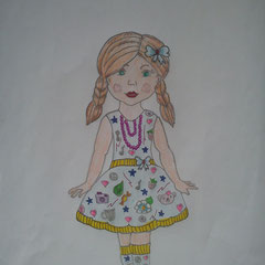 """Ілюстація до повісті-казки Л. Керролла """"Аліса в Країні Див"""" учениці 5 класу Бочелюк Світлани"""