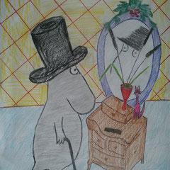 """Ілюстація до повісті-казки Т. Янсон """"Капелюх Чарівника""""  учениці 5 класу Мочари Марії"""