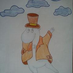 """Ілюстація до повісті-казки Т. Янсон """"Капелюх Чарівника""""  учениці 5 класу Бочелюк Світлани"""