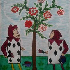 """Ілюстація до повісті-казки Л. Керролла """"Аліса в Країні Див"""" учениці 5 класу Провозюк Поліни"""