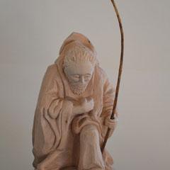 Krippenfiguren handgeschnitzt Josef