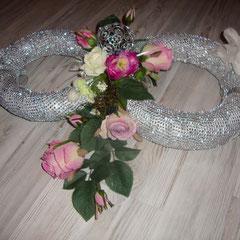 Silberne Ringe mit Strass-Steinen