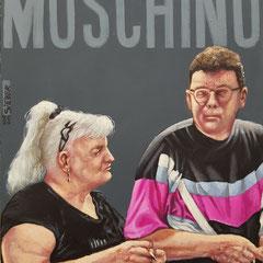 Gemälde 669,MOSCHINO Vol 1,Acryl auf Hartfaserplatte ,2020,30 x 24 cm
