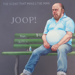 Gemälde 637,BOSS THE SCENT, Acryl auf Hartfaserplatte,2019, 30 x 40 cm