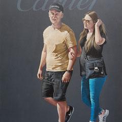 Gemälde 587,CARTIER, Acryl auf Hartfaserplatte,2018, 60 x 80 cm