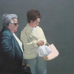 Gemälde 436 Zwei Damen   Acryl auf Leinwand,2013, 145 x 180 cm