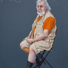 Gemälde 651,YVES SAINT LAURENT , Vol 1,Acryl auf Hartfaserplate 40 x 30 cm