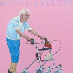 Gemälde 536 ,Bottega Veneta , Acryl auf Hartfaserplatte,2016, 40 x 50 cm