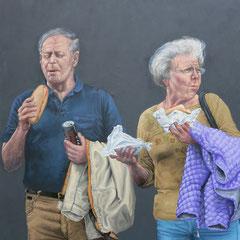Gemälde 451  In der Fremde,  Acryl auf Leinwand,2013,  140 x 200 cm