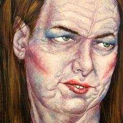 Gemälde 243  Kokette  Acryl auf Leinw. ,2007,  80 x 100 cm