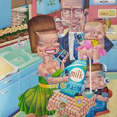 Gemälde. Enjoy, Acryl auf Leinwand, 2019, 60 x 80 cm
