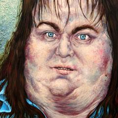 Gemälde 241  Fett-Fresse,  Acryl auf Leinw.,2007,  80 x 100 cm