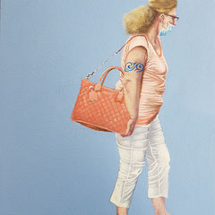 Gemälde 653,GIVENCHY  Vol 1,Acryl auf Hartfaserplate 40 x 30 cm