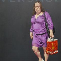 Gemälde 590,VERSACE, Acryl auf Hartfaserplatte,2018, 60 x 80 cm
