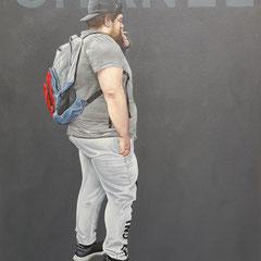 Gemälde 588, CHANEL, Acryl auf Hartfaserplatte,2018, 60 x 80 cm