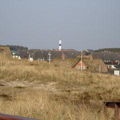 Blick auf den Leuchturm von Kampen