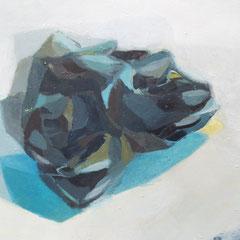 ce qui reste (detail) 47 x 120cm, huile sur toile, 2017