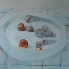 Repas de grand-mere, huile sur toile, 145 x 195 cm, 2017