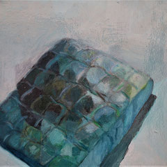 Matelas, huile sur toile, 40 x 30cm, 2017