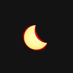 Die Hitze der Sonne sichtbar gemacht