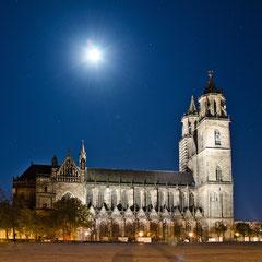 Dom zu Magdeburg St. Mauritius und Katharina im Mondschein