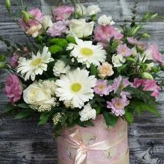 цветочная композиция в коробке купить казанская