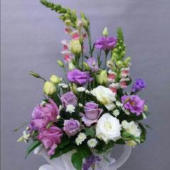 композиция из цветов в корзине  купить казанская