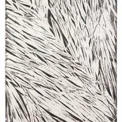 PALLE SEIERSEN FROST, Despliegues 58, papel kinwashi y laca, 199x95cm, 2014.