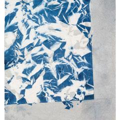 PALLE SEIERSEN FROST, Despliegues 45, papel kinwashi y laca, 89x63cm, 2014.