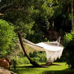 Hängematte in einer Garten Oase, Entspannung