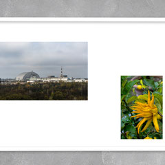 """Pripyat, Ukraine, October  2019  •  Camaiore, Italy, January 2015"". The photo project ""Synergy"". Printing on photo paper 27x40cm. Edition 10 + 2AP. Framed"