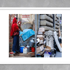 """Kathmandu, Nepal, January 2010  •  Florence, Italy, August 2016"". The photo project ""Synergy"". Printing on photo paper 27x40cm. Edition 10 + 2AP. Framed"